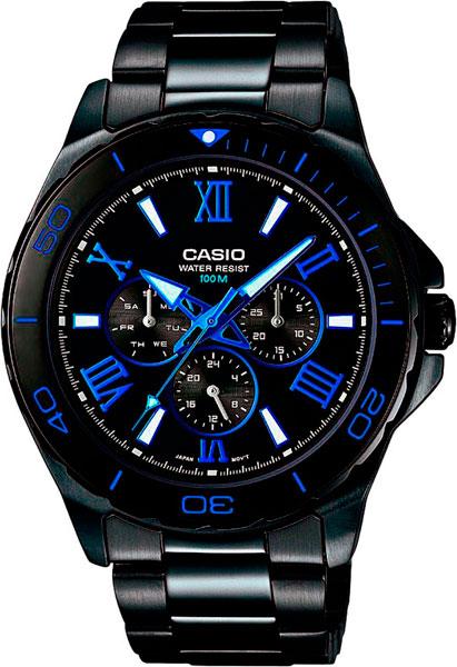 Мужские часы Casio MTD-1075BK-1A2 casio casio mtd 1070d 1a2