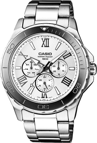 Мужские часы Casio MTD-1075D-7A casio sheen multi hand shn 3013d 7a