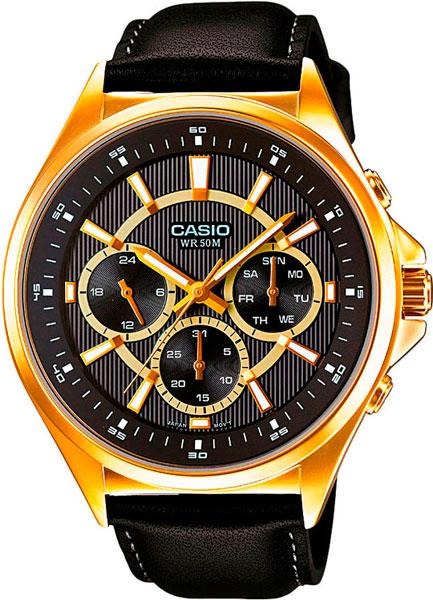 Мужские часы Casio MTP-E303GL-1A часы casio mtp 1377l 5a