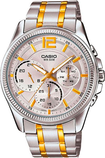 Мужские часы Casio MTP-E305SG-9A часы casio mtp 1377l 5a