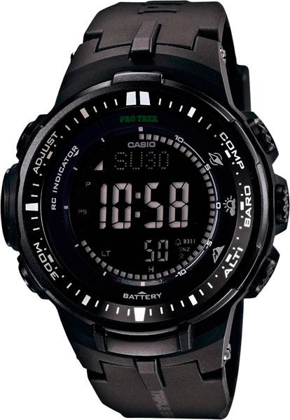 Мужские часы Casio PRW-3000-1A casio pro trek prw 2500 1e