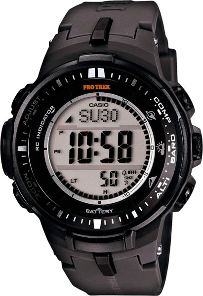 Мужские часы Casio PRW-3000-1E casio часы casio prw 5000 1e коллекция pro trek