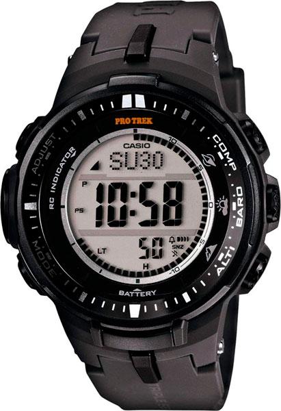 Мужские часы Casio PRW-3000-1E casio часы casio prw 3500y 1e коллекция pro trek