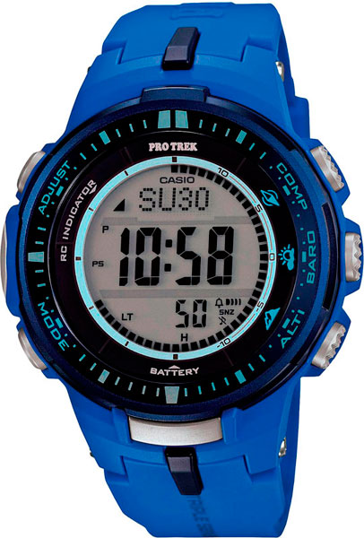 Мужские часы Casio PRW-3000-2B casio watch solar outdoor sports climbing table waterproof male watch prw 3000 1a prw 3000 1d prw 3000 2b prw 3000 4b