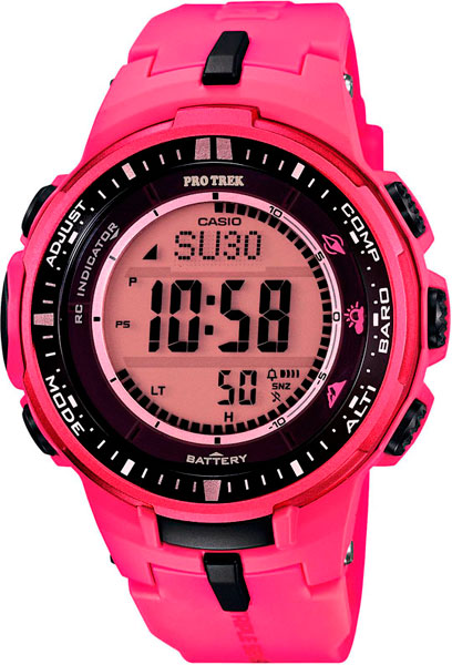 Мужские часы Casio PRW-3000-4B casio watch solar outdoor sports climbing table waterproof male watch prw 3000 1a prw 3000 1d prw 3000 2b prw 3000 4b