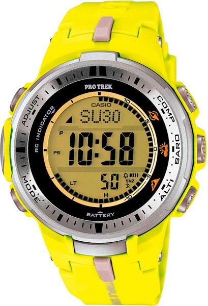 Мужские часы Casio PRW-3000-9B casio pro trek prw 3000 4b