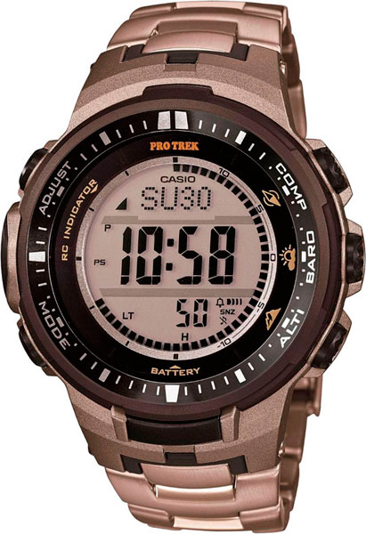 Мужские часы Casio PRW-3000T-7E casio watch solar outdoor sports climbing table waterproof male watch prw 3000 1a prw 3000 1d prw 3000 2b prw 3000 4b