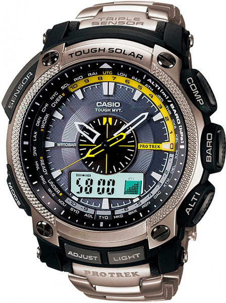 Мужские часы Casio PRW-5000T-7E �������� casio protrek