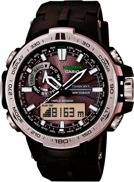 Мужские часы Casio PRW-6000-1E casio часы casio prw 5000 1e коллекция pro trek
