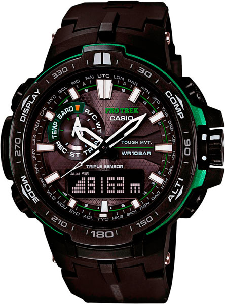 Мужские часы Casio PRW-6000Y-1A casio часы casio prw 5000 1e коллекция pro trek