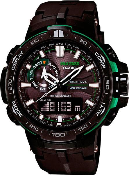 Мужские часы Casio PRW-6000Y-1A casio часы casio prw 7000 3e коллекция pro trek