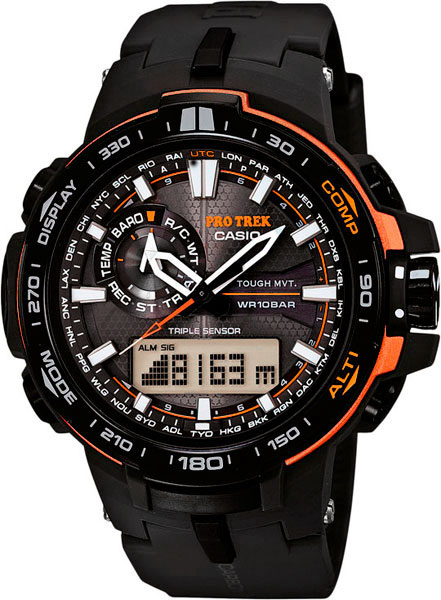 Мужские часы Casio PRW-6000Y-1E casio часы casio prw 3000 1e коллекция pro trek