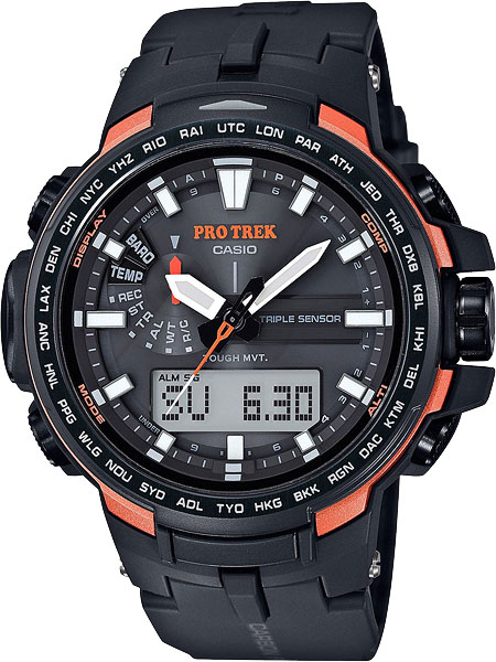 Мужские часы Casio PRW-6100Y-1E casio часы casio prw 5000 1e коллекция pro trek