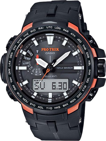 Мужские часы Casio PRW-6100Y-1E кварцевые часы casio sport prw 6000 1e black