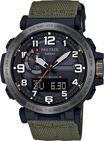 Мужские часы Casio PRW-6600YB-3E casio часы casio prw 5000 1e коллекция pro trek