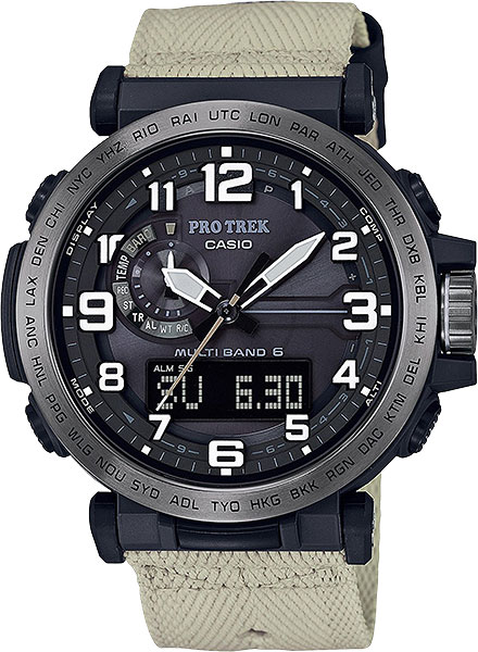 Мужские часы Casio PRW-6600YBE-5E casio часы casio prw 5000 1e коллекция pro trek