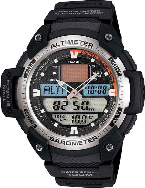 Мужские часы Casio SGW-400H-1B casio outgear sgw 450hd 1b