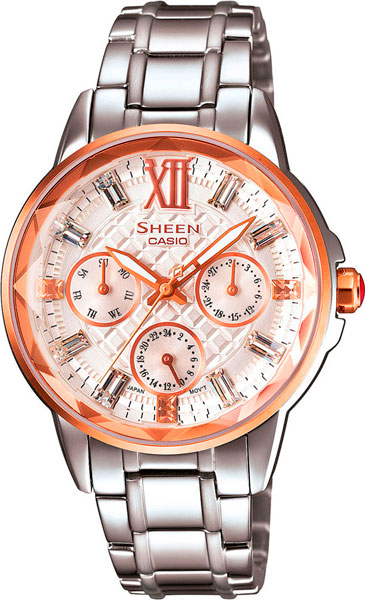 Женские часы Casio SHE-3029SG-7A casio sheen multi hand shn 3013d 7a