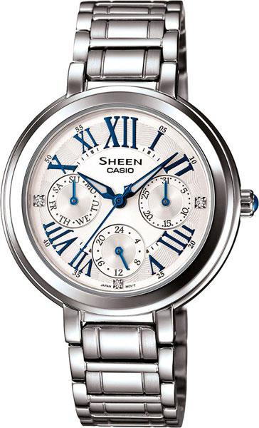 Женские часы Casio SHE-3034D-7A casio sheen multi hand shn 3013d 7a