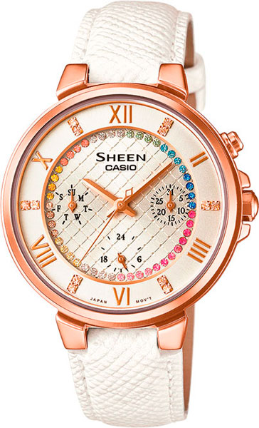 Женские часы Casio SHE-3041PGL-7A casio sheen multi hand shn 3013d 7a