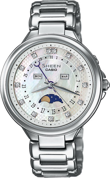 Женские часы Casio SHE-3044D-7A casio sheen multi hand shn 3013d 7a