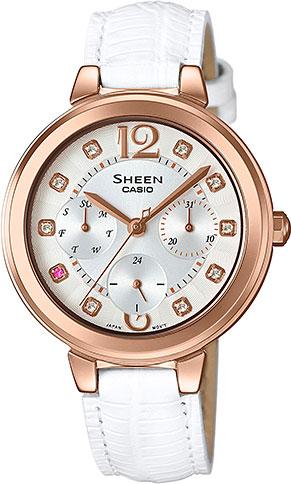 Женские часы Casio SHE-3048PGL-7A casio sheen multi hand shn 3013d 7a