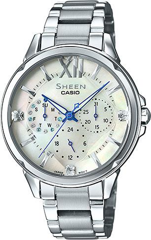 Женские часы Casio SHE-3056D-7A casio sheen multi hand shn 3013d 7a