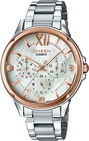 Женские часы Casio SHE-3056SG-7A casio sheen multi hand shn 3013d 7a