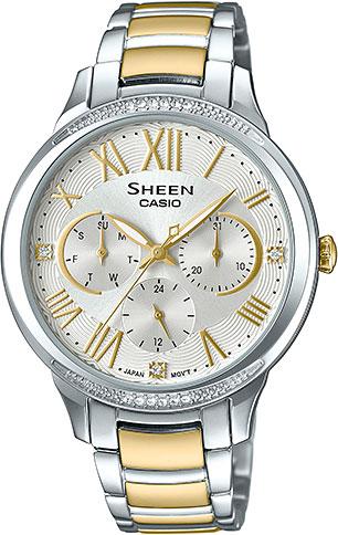 Женские часы Casio SHE-3058SG-7A casio sheen multi hand shn 3013d 7a