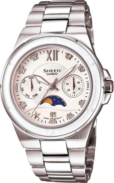 Женские часы Casio SHE-3500D-7A casio sheen multi hand shn 3013d 7a