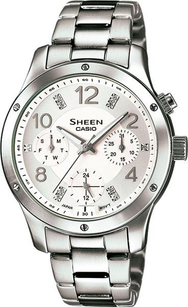Женские часы Casio SHE-3807D-7A casio sheen multi hand shn 3013d 7a