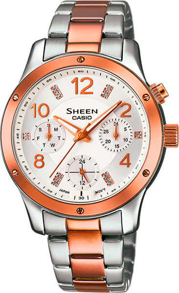 Женские часы Casio SHE-3807SPG-7A casio she 3807spg 7a