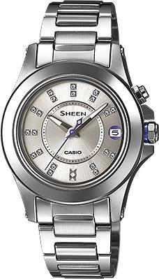 Женские часы Casio SHE-4509D-7A casio sheen multi hand shn 3013d 7a