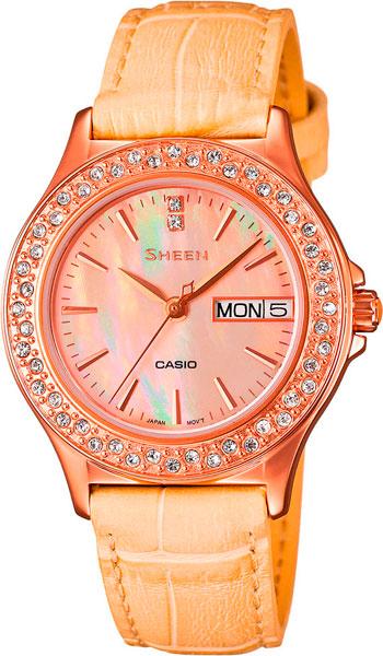 Женские часы Casio SHE-4800GL-9A casio she 4800gl 2a