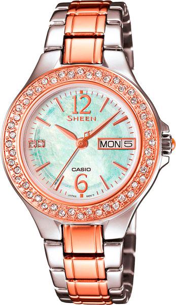 Женские часы Casio SHE-4800SG-7A casio sheen multi hand shn 3013d 7a