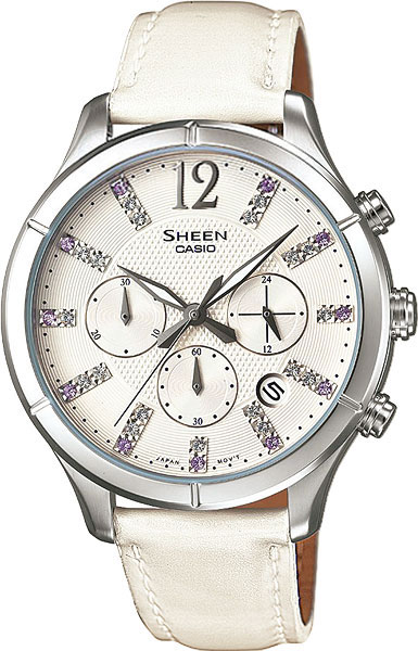 Женские часы Casio SHE-5020L-7A casio sheen multi hand shn 3013d 7a