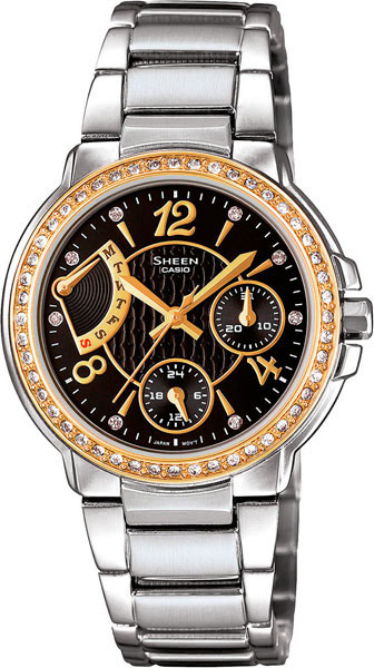 casio женские японские наручные часы shn 3011d 4a Женские часы Casio SHN-3008SG-1A