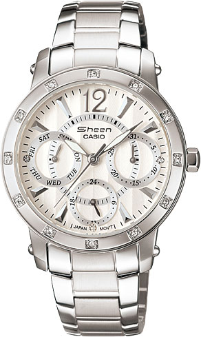 casio женские японские наручные часы shn 3011d 4a Женские часы Casio SHN-3012D-7A