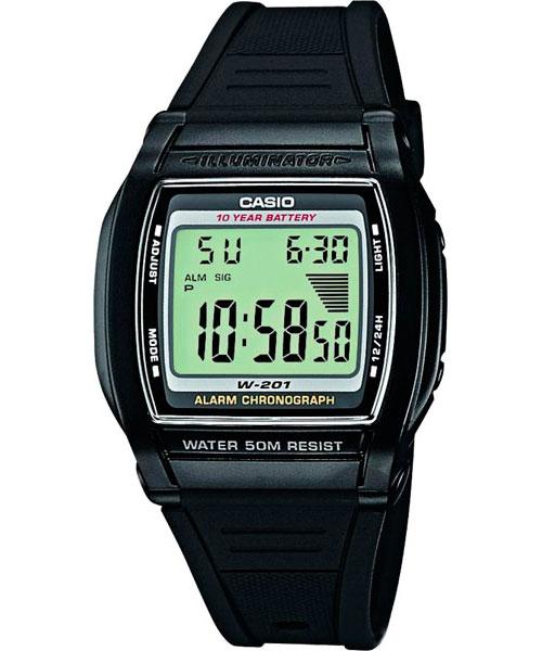 купить Мужские часы Casio W-201-1A онлайн