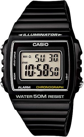 купить Мужские часы Casio W-215H-1A по цене 1740 рублей
