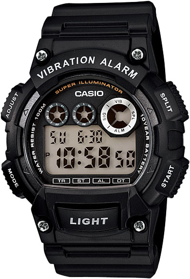 цена Мужские часы Casio W-735H-1A онлайн в 2017 году