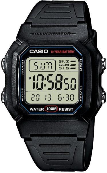 Мужские часы Casio W-800H-1A мужские часы casio w 96h 1a
