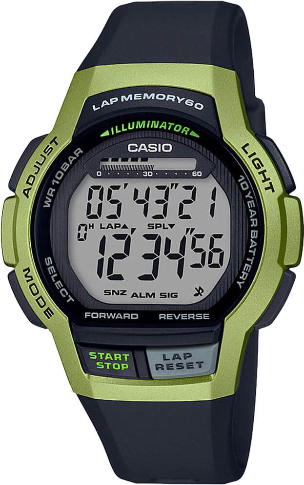 Мужские часы Casio WS-1000H-3AVEF цена 2017