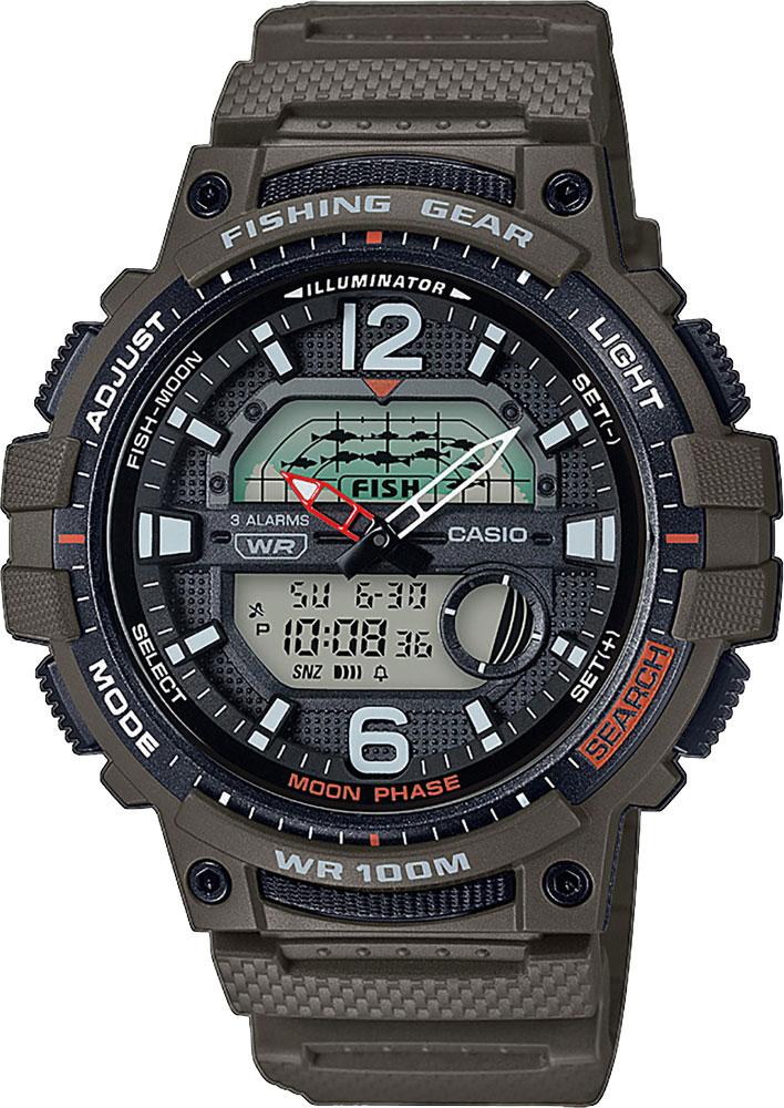 Японские наручные часы Casio Collection WSC-1250H-3AVEF с хронографом
