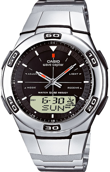 цена Мужские часы Casio WVA-105HDE-1A онлайн в 2017 году