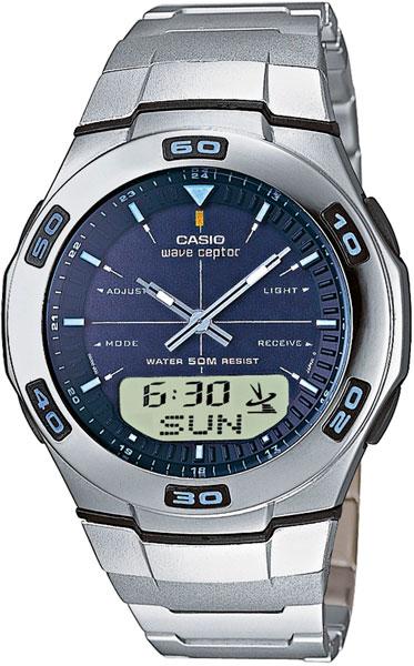 Мужские часы Casio WVA-105HDE-2A casio wave ceptor wva m650d 2a