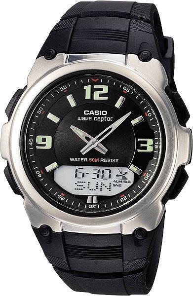 Мужские часы Casio WVA-109HE-1B-ucenka наручные часы casio radio controlled wva 109he 1b