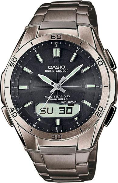 цена Мужские часы Casio WVA-M640TD-1A-ucenka онлайн в 2017 году