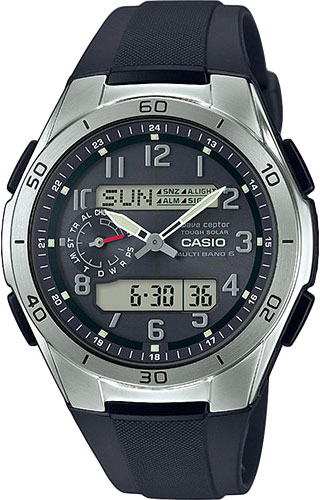 Мужские часы Casio WVA-M650-1A2 casio wave ceptor wv 200e 2a