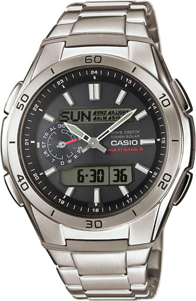 цена Мужские часы Casio WVA-M650D-1A онлайн в 2017 году